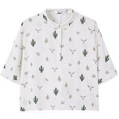 Mango Printed Flowy Shirt (501.340 IDR) ❤ liked on Polyvore featuring tops, shirts, clothing - ss tops, t-shirts, sleeve shirt, viscose shirt, mango tops, short sleeve tops and short sleeve collared shirt
