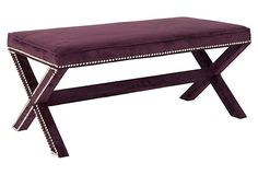 Want for foot of bed--purple enough?  Emerson Bench, Eggplant on OneKingsLane.com