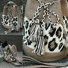 Worki mochilla i wayuu Mochila Crochet, Crochet Tote, Crochet Handbags, Crochet Purses, Knit Crochet, Tapestry Crochet Patterns, Crochet Motifs, Crochet Stitches, Handmade Handbags