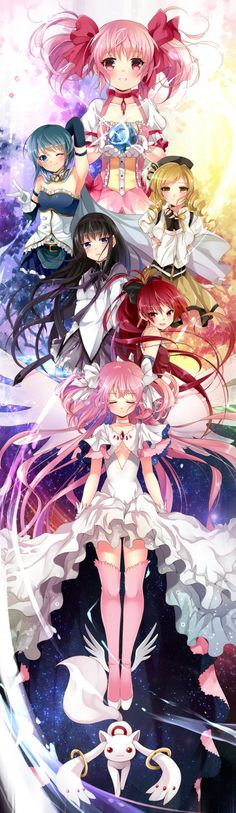 Collabertaion of anime Puella Magi Madoka Magica by Rurutia8 and ninjinshiru on deviantART
