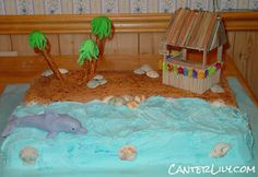 Beach and Dolphin Cake