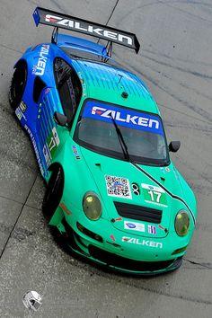 The Falken Tires Porsche at Long Beach. Photo by Jim Fonseca. www.racerviews.com