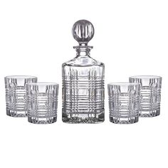 Fitz and Floyd Portland 5 Piece Drinkware Set Cigars And Whiskey, Whiskey Glasses, Whiskey Decanter, Cut Glass, Drinkware, Eye Makeup, Perfume Bottles, Portland, Bar Accessories