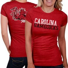 Your Gamecocks pride will register loud and clear when you sport this crazy-soft Literality short sleeve tee from My U featuring a two-tone distressed school and team name on the front and a distressed team logo on the back!