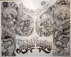 Boog Tattoo Flash - Prison/gangster Art