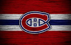 Indir duvar kağıdı Montreal Almanya maçını, 4k, NHL, hokey kulübü, Doğu Konferansı, ABD, logo, ahşap doku, hokey, Atlantic Division