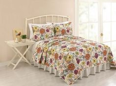 Modern Heirloom Collection Ginger Quilt, Full/Queen, Set of 3 >>> Continue with the details at the image link. #BeddingSetsCollections