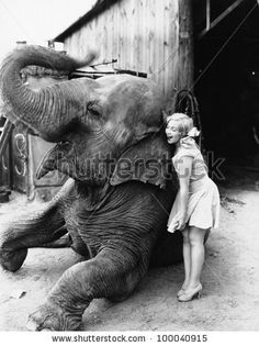 Profile of a young woman hugging an elephant by Everett Collection, via ShutterStock