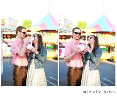 Cotton Candy & a carnival engagement session.