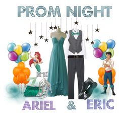 """""""Prom Night--Ariel & Eric"""" by audreyk1227 on Polyvore"""
