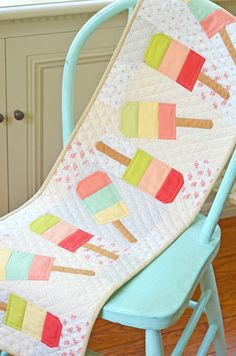 Mini Popsicles from Quilting Digest A table runner! I Love Love Love this!