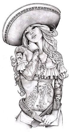 Sexy lady tattoo pinterest