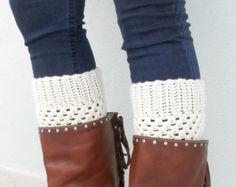 PDF Pattern  Crochet Boot Cuffs