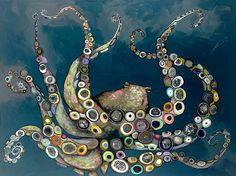 """Octopus in the Deep Blue Sea"" by Eli Halpin."
