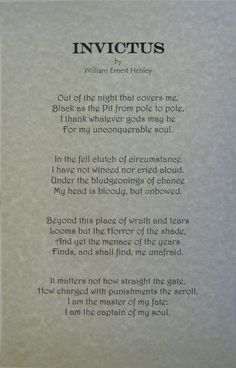 figurative language and william ernest henley essay Poem of the day: william ernest henley's invictus  unique imagery, but rather  in the simplicity and intensity with which henley addresses the.