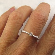 Forever Brilliant Moissanite Twig Ring - Moissanite Engagement Ring, Sterling Silver and Yellow Gold Twig Ring, Forever Brilliant Moissanite, 18k Gold, Jewlery, Silver Rings, Wedding Rings, Engagement Rings, Band, Sterling Silver