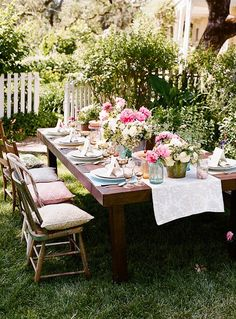outdoor tea parties.