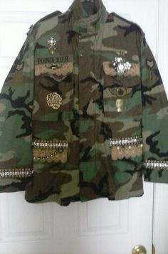 DIY, camo jacket  by Cassi Poindexter