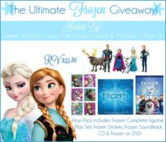 Enter to win amazing prizes in The Ultimate Disney's Frozen Giveaway!! Ends 5/27!!