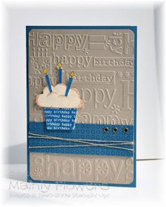 Mainly Flowers Independent Stampin' Up! Demonstrator Joanne Gelnar: More Birthday Cake