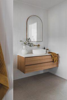 Bathroom Renos, Bathroom Renovations, Small Bathroom, Baths Interior, Bathroom Interior Design, Timber Vanity, Outside Room, Minimal Bathroom, Dream House Interior
