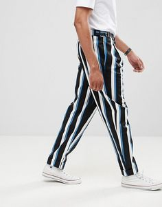 ASOS DESIGN Tall wide balloon trousers in all over stripe #ad #men #fashion #shopping #outfit #inspiration #style #streetstyle #fall #winter #spring #summer #clothes #accessories