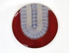 Sieh dir dieses Produkt an in meinem Etsy-Shop https://www.etsy.com/de/listing/249359159/rote-wand-keramik-teller-ethno-keramik
