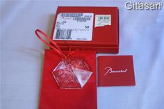 BACCARAT Christmas Ornament Crystal Snowflake Limited Ed UNICEF Dated Collectors