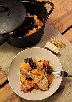 Kip stoof met zoete aardappel en pruimen