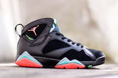 "detailing 6d7a9 89ca2 Releasing  Air Jordan 7 Retro ""Marvin the Martian†(Barcelona Nights"