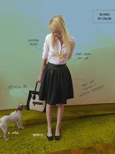 Look do dia Blog MeninaIT saia plissada e camisa branca