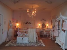 The bedroom with the dresses and alarmclock