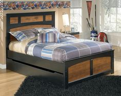 Aimwell Full Panel Bed w/ Trundle Under Bed Storage by Signature Design by Ashley