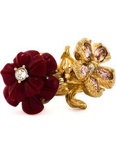 Alexander Mcqueen Floral Cocktail Ring - Dell'oglio - Farfetch.com