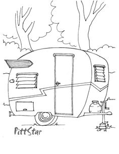 CAMPING This Ones So Cute A Couple Of Free SUMMER Coloring Pages