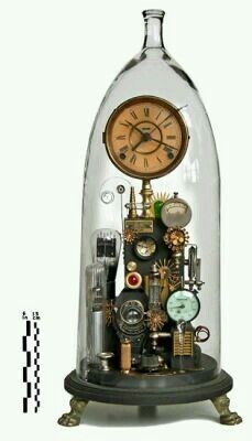 Clocks – Decor : I love clocks and think steampunk is inspired. so this is pretty awesome! Klockwerks by Roger Wood -Read More – Chat Steampunk, Lampe Steampunk, Steampunk Fashion, Steampunk Diy, Steampunk Clothing, Steampunk Interior, Steampunk Design, Old Clocks, Antique Clocks
