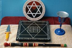 Elemental Tools of High Magic ~ Pagan Murmur Wicca Witchcraft, Wiccan, Esoteric Art, Aleister Crowley, Knight Art, Pentacle, Sacred Geometry, Occult, Altars