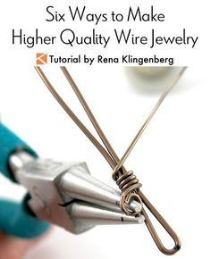 Jewelry Wire Six Ways to Make Higher Quality Wire Jewelry Tutorial by Rena Klingenberg. - Six Ways to Make Higher Quality Wire Jewelry Tutorial by Rena Klingenberg Source by biloerju For more details about this Wire Jewelry Making, I Love Jewelry, Wire Wrapped Jewelry, Beaded Jewelry, Silver Jewelry, Jewellery Making, Wire Jewellery, Craft Jewelry, Jewellery Shops