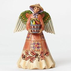 Enesco Jim Shore Harvest Angel with Bounty -- For more information, visit image link. (This is an affiliate link) #CollectibleFigurines