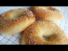 YouTube Greek Desserts, Life Kitchen, Bagel, Kids Meals, Food And Drink, Cooking, Health, Easy, Recipes