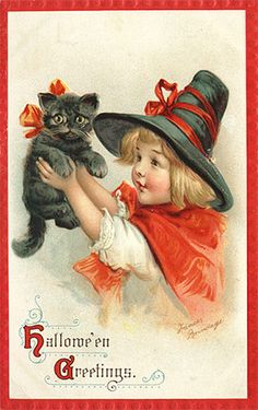 adorable vintage witch