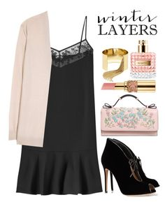 """Winter Layers: Slip Dress"" by alaria ❤ liked on Polyvore featuring Carven, RED Valentino, Gianvito Rossi, Acne Studios, BaubleBar, Valentino, women's clothing, women's fashion, women and female"