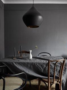 Beautiful home in dark colors - via Coco Lapine Design blog
