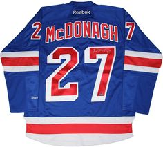 Ryan McDonagh Signed New York Rangers Blue Jersey w/ Captain 'C'