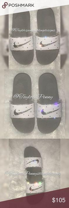 20eb8d321289 I just added this listing on Poshmark  Bling Nike Slides.  shopmycloset   poshmark