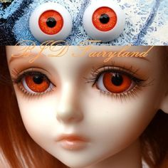BJD doll eyes shining orange  8mm 10mm 12mm 14mm by bjdfairyland