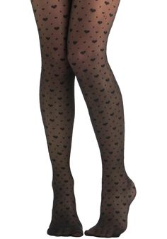 My Heart Skipped Tights - Black, Novelty Print. need these in my collecton, asap!