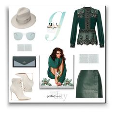 """""""C.B.G"""" by exoduss ❤ liked on Polyvore featuring Gianvito Rossi, Justine Hats, Miss Selfridge, Thierry Mugler and Gucci"""