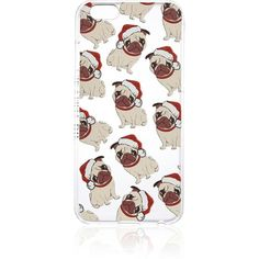 River Island White iPhone 5c pug phone case ($20) ❤ liked on Polyvore featuring accessories, tech accessories, bags / purses, phone / tablet cases, white, women and river island