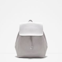 backpack with fold over flap, ice,  Zara ($30)